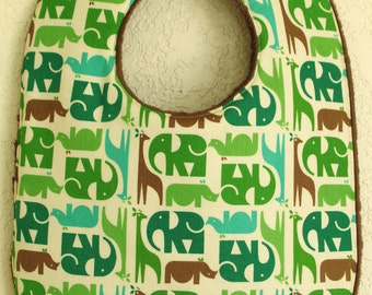 Boutique elephant boy's bib
