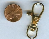 Large Lanyard or Key Ring Swivel Hook Closure Clasp Gold Plated 1.5 inches (4 pcs)