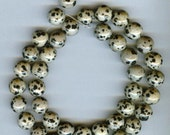 "Dalmatian Jasper 10mm Round Beads 16"" AA Quality"
