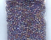 Awesome Transparent AB Amethyst Purple Seed Beads Loose Bag 6/0 1300 beads
