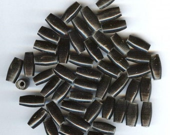 """1/2 """" Black Finish Horn Hairpipe High Quality Beads 25 pieces"""