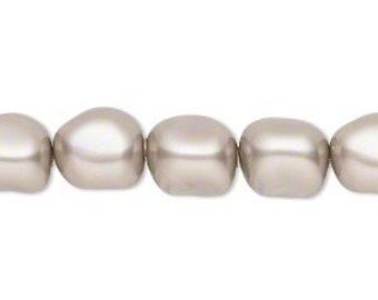 10mm Swarovski Crystal Platinum Baroque Pearls (5840) 10 pcs