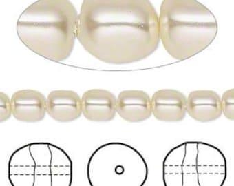 6mm Swarovski Crystal Cream Baroque Pearls (5840) 10 pcs