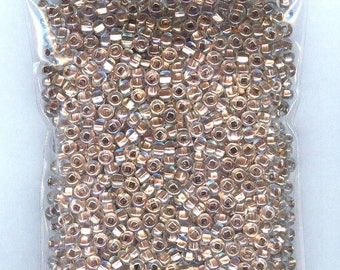 3 oz Awesome Copper Lined Crystal Preciosa Czech Glass Seed Beads Loose Bag 6/0 1300 beads
