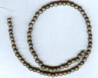 "6mm Unique Graywood Round Wood Beads 16"" Strand"