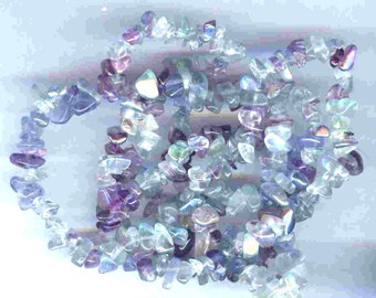 Amazing Genuine Rainbow Flourite Chip Beads Full 35""
