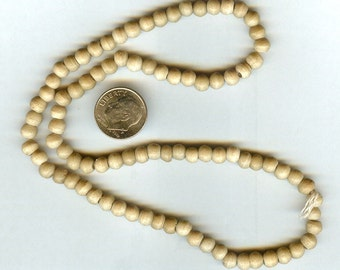 6mm High Quality Natural Tea Dyed Bone Round Beads 50pcs