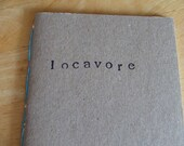 Locavore Hand Stamped Journal Blue