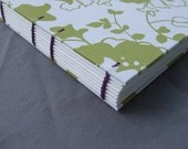 6 x 6 Square Journal - 2 - Lime and Purple