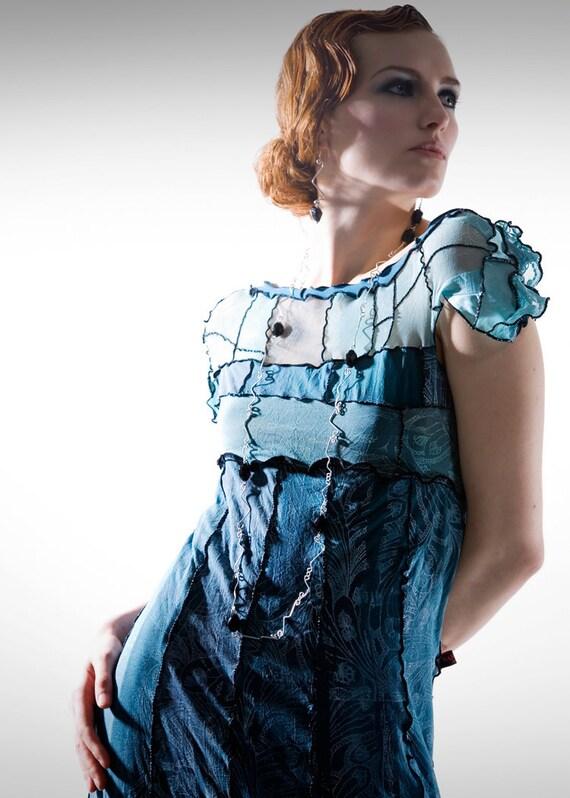 Turquoise Tea Dress Size M 75% off