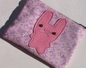 SAMPLE - pink rabbit coinpurse
