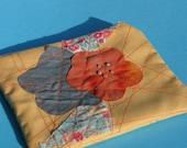 sale - applique flowers coinpurse