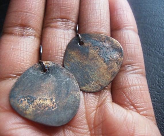 Pantina on  Copper (Tagua Slice Shaped) Earrings