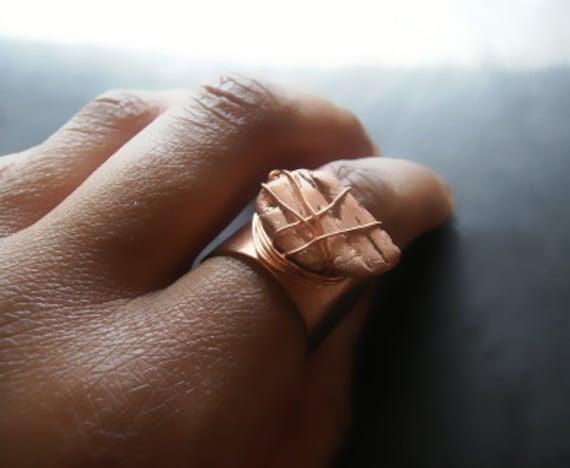 Copper Nugget Ring (Adjustable)
