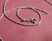 18 Inch Twisted Serpentine Sterling Silver Chain