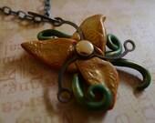 Steampunk Lily Pendant