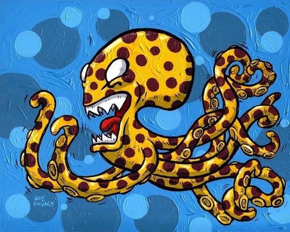 Cheetah Print Octopus Giclee Print