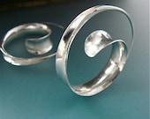 spiral earrings ...  large hoop
