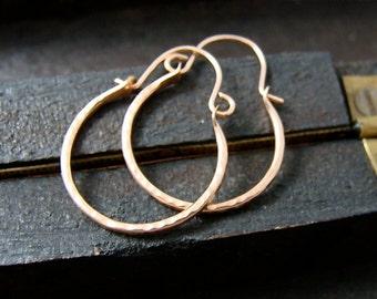 mini blush hoop ... 14k rose gold filled