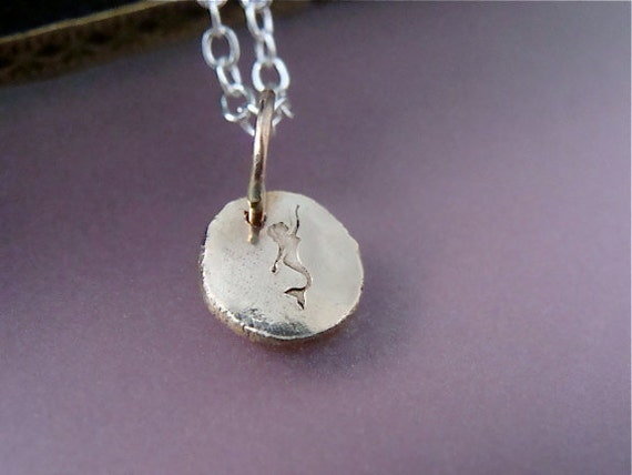 14k stepping stone ... recycled gold pendant
