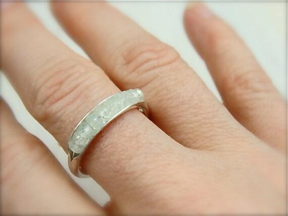 skinny aquamarine, gemstone stack ring