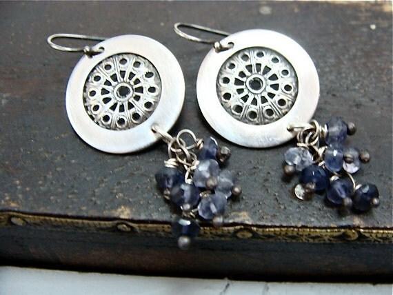 lace cluster earrings