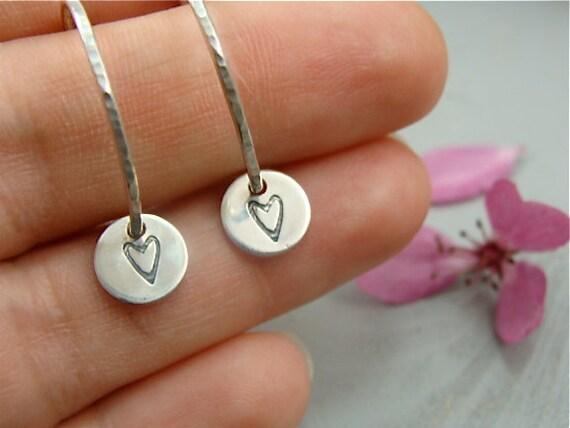 sweetheart ... silver hoops