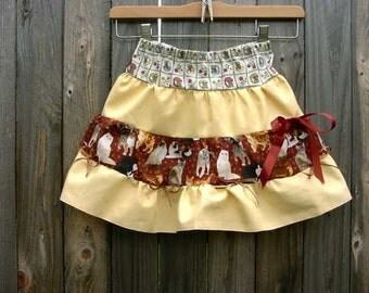 Little Girls tiered Kitty Cat Skirt