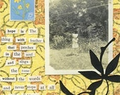 Collage Card . Vintage Photograph . Uplifting Quotation