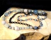 Blue Skies Bracelet 7 1/2 inch - Handmade by me
