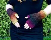 PATTERN Digital Gloves Fingerless  Sunset Gloves Crochet PDF
