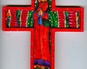 Red Guadalupe Cross