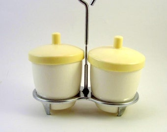Vintage Condiment Caddy - Retro Relish Set - Made in Japan Kitsch