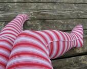 CANDY CANE POPPY LONGSTOCKINGS knee sock stocking red and white lolita punk kawaii geek