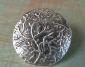 Branches Button - Hand Crafted in Fine Silver-BTN00111