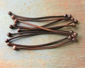 Double Ball Copper Head Pins - set of 10