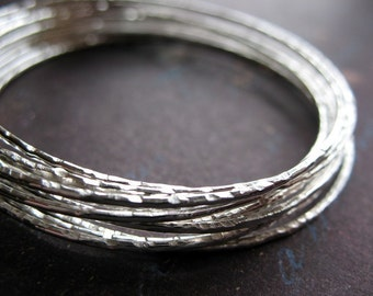 2 inch Bright Sterling Silver Notched Soldered Hoop Findings - 1 pair