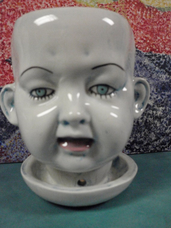 Two Face doll head Planter