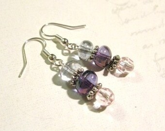 Blue/Purple/Pink Bubble Earrings