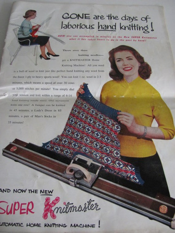 Knitting Machine For Home : Items similar to s knitmaster automatic home knitting