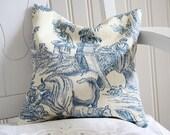 Blue Toile Lavender Pillow