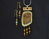 Brass and Jasper Necklace Set