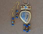 Brass and Agate Necklace Set