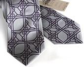 2 custom microfiber color groomsmen neckties, vegan-safe - matching ties, same design.