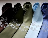 6 Groomsmen microfiber neckties, wedding bulk discount, matching ties, same design