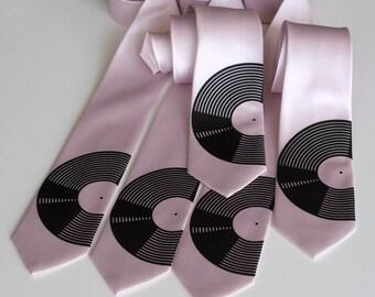 5 groomsmen wedding ties. 20% Wedding party discount, matching men's neckties. Groomsmen gift ideas, screenprinted microfiber