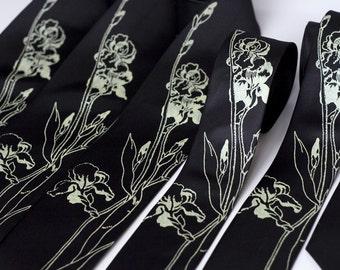 6 groomsmen wedding neckties. 20% Group discount, matching silkscreened ties. Vegan-safe microfiber.