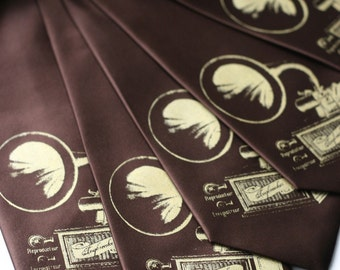 8 groomsmen neckties, 20% wedding group discount. Matching wedding party vegan-safe ties, same design