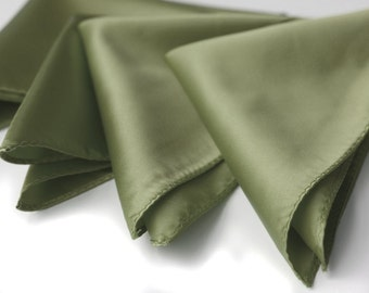 Solid color men's Pocket squares. Plain handkerchief. Perfect for weddings and groomsmen. Your choice of color. No print.