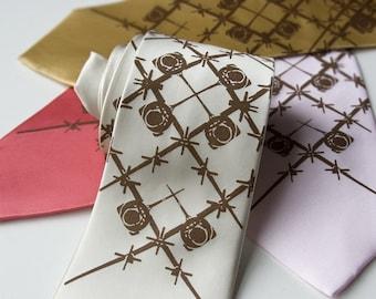 9 silk wedding ties. Groomsmen necktie group package discount, matching screen printed ties.